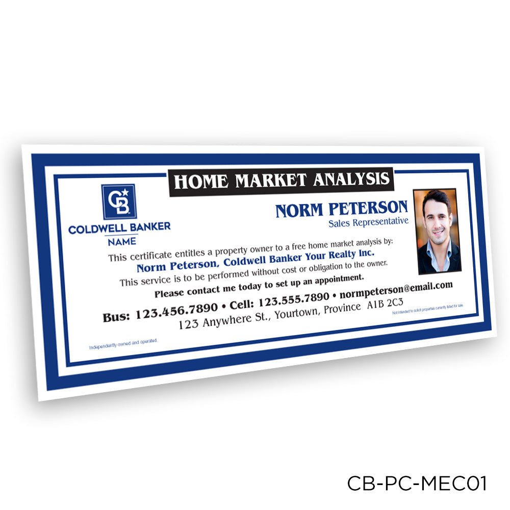 Coldwell Banker Market Analysis Certificates