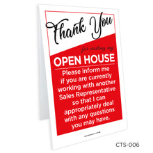 Load image into Gallery viewer, Interior Tent Signs (8 x 12)