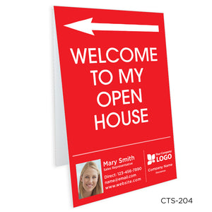 Interior Personalized Tent Signs (8 x 12)