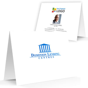 Dominion Lending Printed Note Cards with Foil