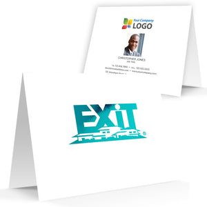 EXIT Realty Printed Note Cards with Foil