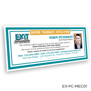 EXIT Realty Market Analysis Certificates