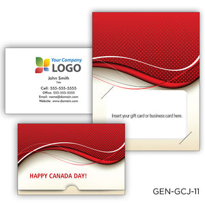 Canada Day Gift Card Jackets