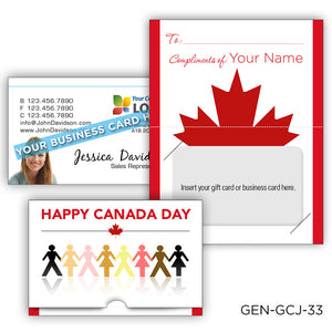Canada Day Gift Card Holders
