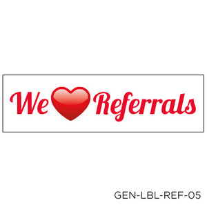 Love Referral Labels - Rectangle (100 pack)