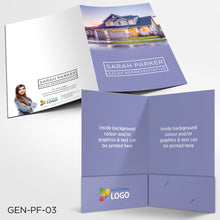 Load image into Gallery viewer, Custom Printed Presentation Folders - Offset (2 sided)