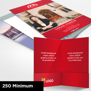 Custom Printed Presentation Folders - Offset (2 sided)