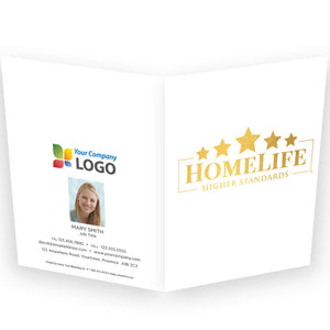 HomeLife Printed Note Cards with Foil