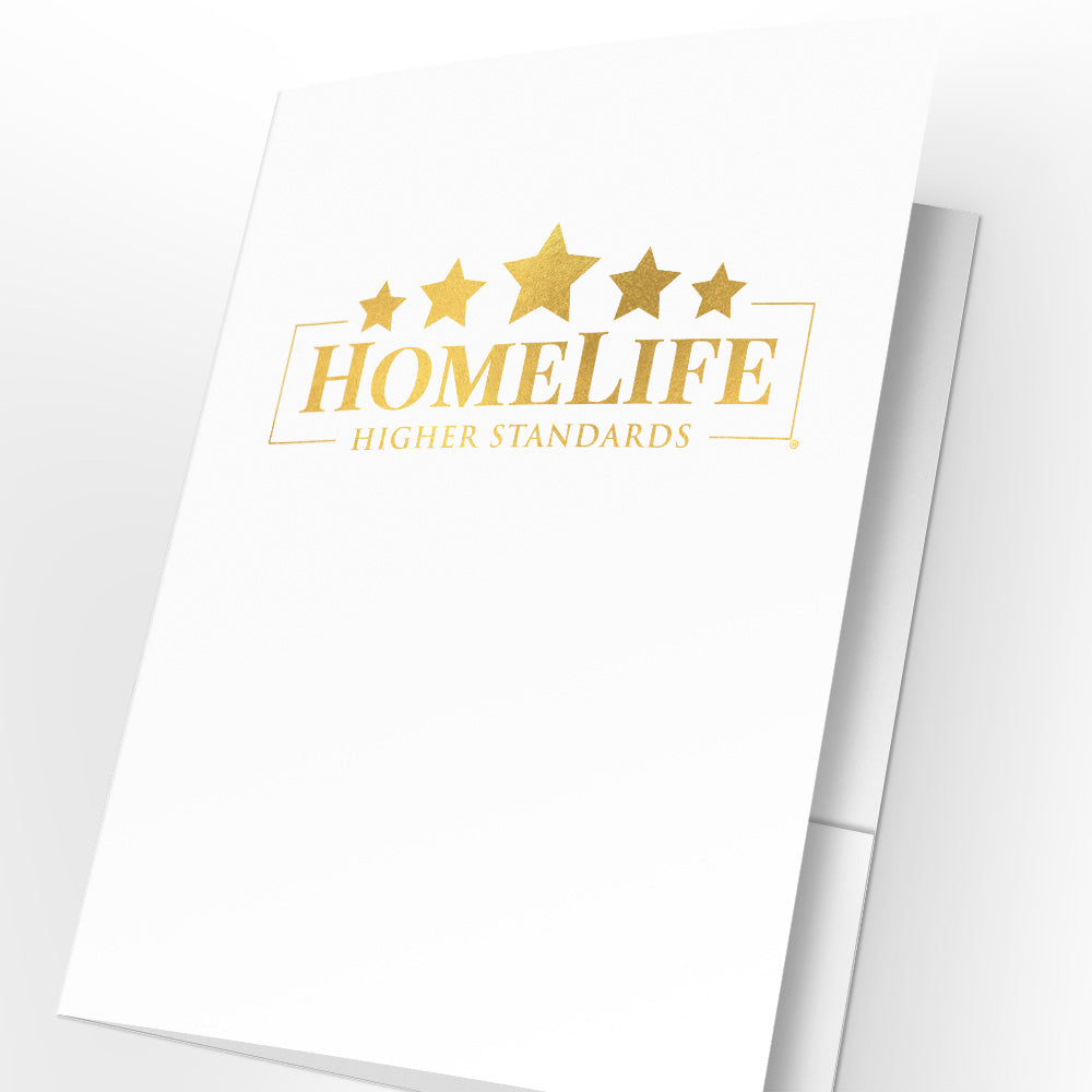 HomeLife Presentation Folders with Foil (25 pack)