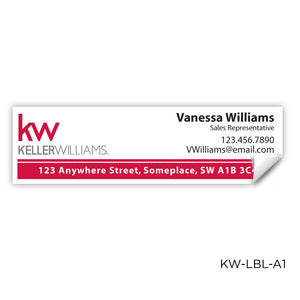 "Keller Williams Labels (3.5"" x 1"")"