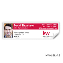 "Load image into Gallery viewer, Keller Williams Labels (3.5"" x 1"")"