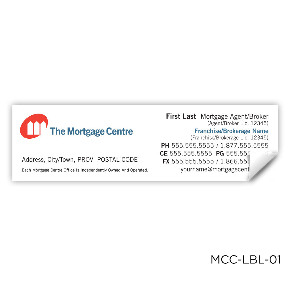 The Mortgage Centre Labels (3.5