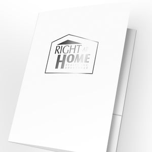 Right at Home Presentation Folders with Foil (25 pack)