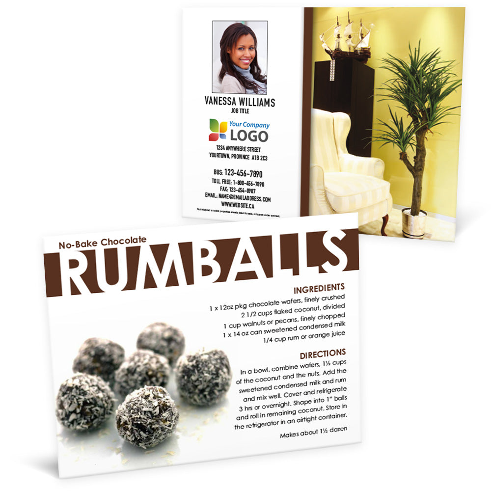 Rumballs - Recipe Postcard
