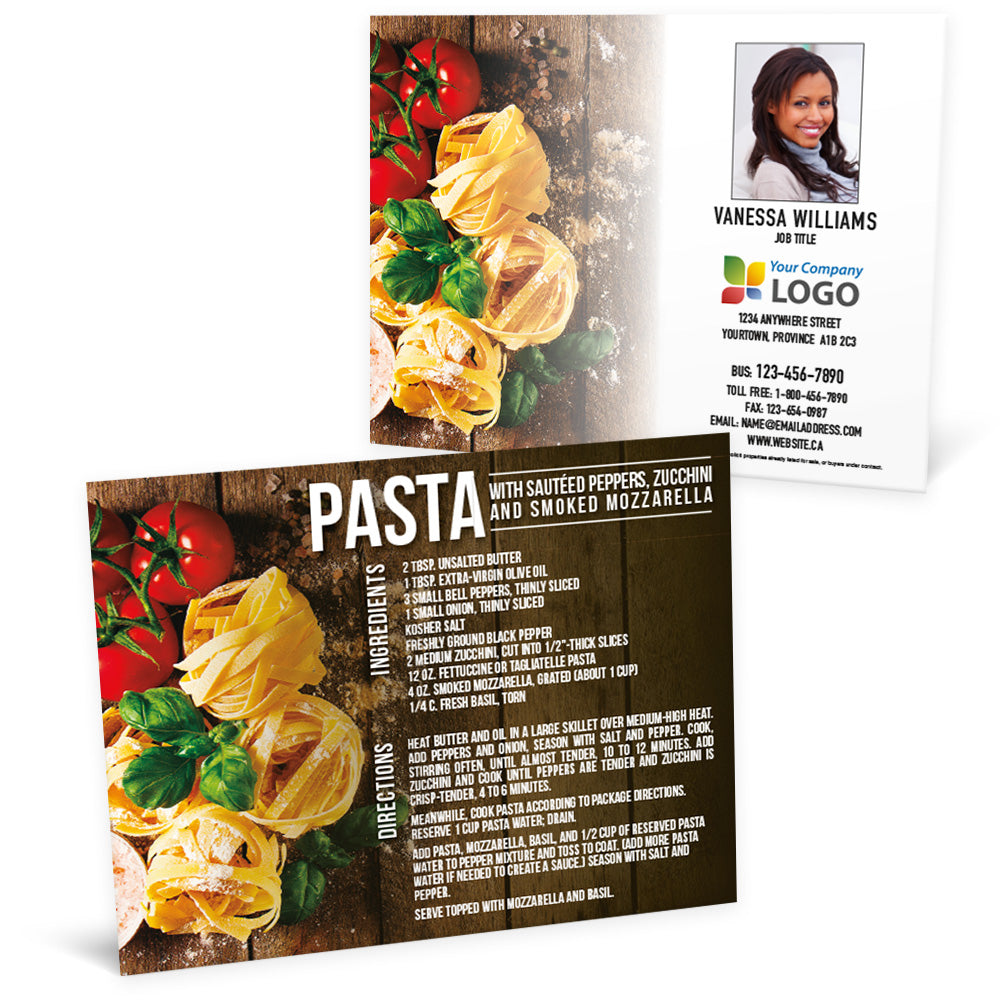 Pasta Dish - Recipe Postcard