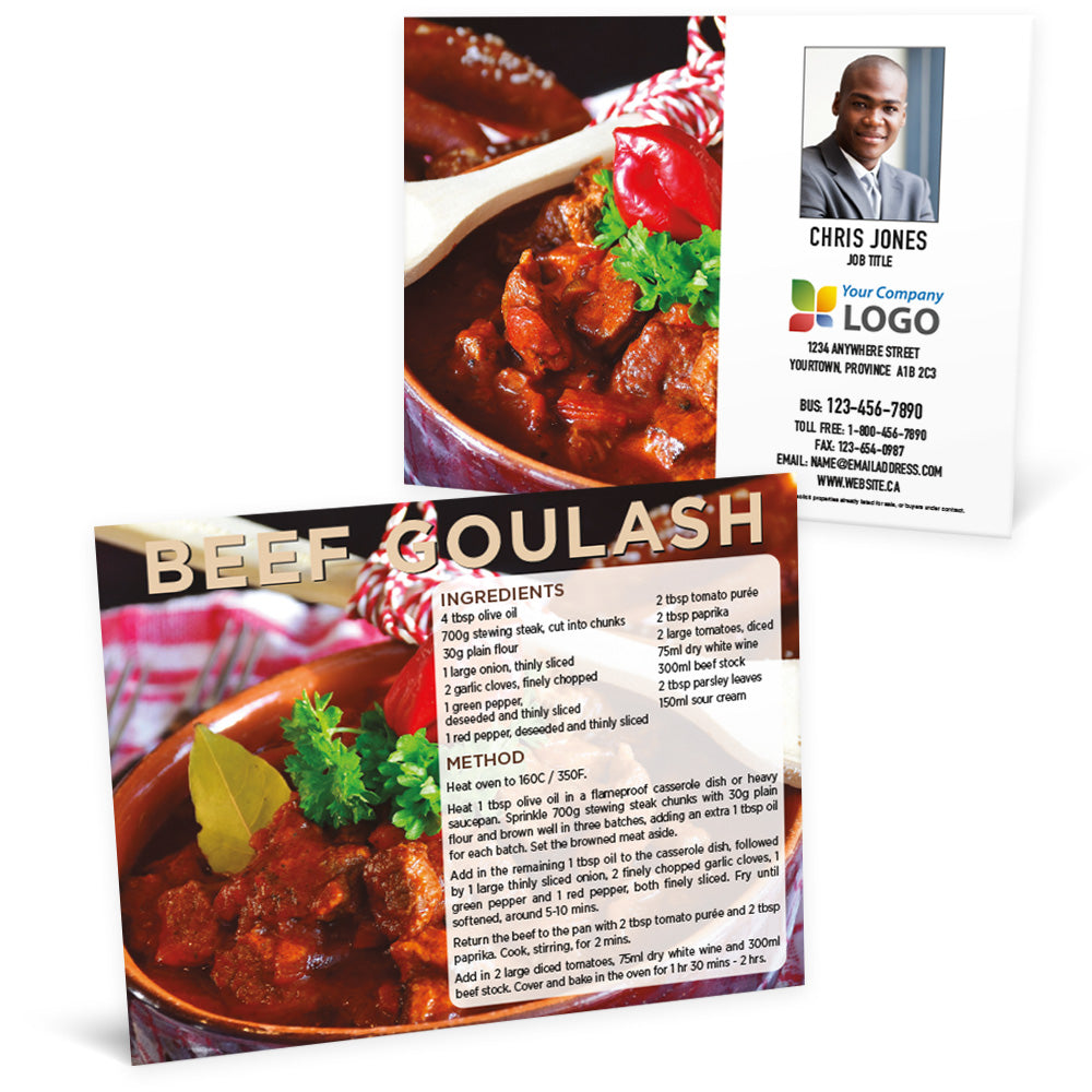 Beef Goulash - Recipe Postcard