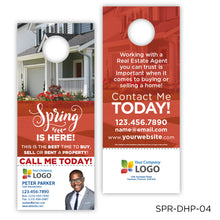 Load image into Gallery viewer, Spring Door Hangers with Perforated Business Card