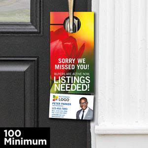 Spring Door Hangers with Perforated Business Card