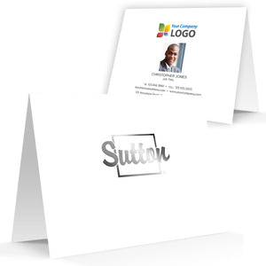 Sutton Printed Note Cards with Foil