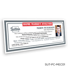 Load image into Gallery viewer, Sutton Market Analysis Certificates