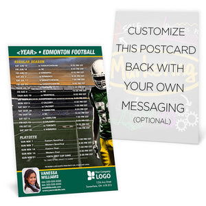 Edmonton Football Team Schedule Postcard