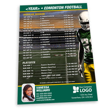 Load image into Gallery viewer, Edmonton Football Team Schedule Postcard