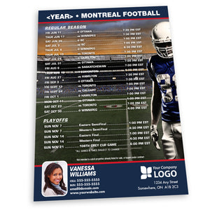 Montreal Football Team Schedule Thin Magnet