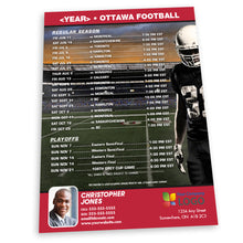 Load image into Gallery viewer, Ottawa Football Team Schedule Postcard