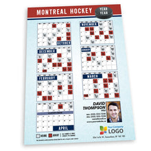 Load image into Gallery viewer, Montreal Hockey Team Schedule Thin Magnet
