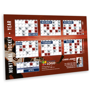 Montreal Hockey Team Schedule Thin Magnet