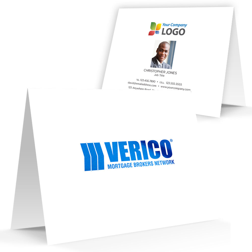 Verico Printed Note Cards with Foil