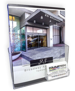 Acrylic Literature & Business Card Holder