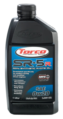 Torco SR-5R High Performance Racing Oil 0w20
