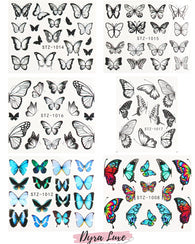Butterfly Water Decals