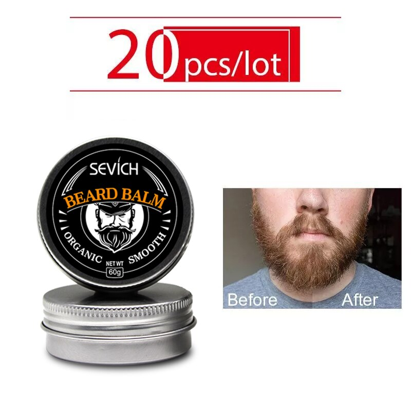 20 x 30g Men's Organic Beard Oil Balm