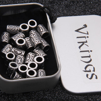 24pcs Stainless Steel Viking Runes Charms (Not Plated)