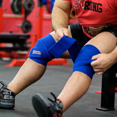 Sling Shot® Knee Wraps Blue - Image 01