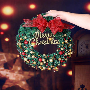 Door Hanging Christmas Wreath Pendant Halloween Thanksgiving Christmas Home Decoration