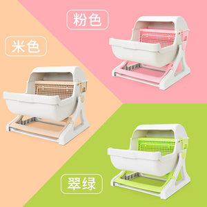 Extra Large Semi-automatic Cat Toilet Semi enclosed Drawer Type Cleaning Box Cat litter Box Furniture Pets Supplies