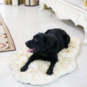 Faux Fur Orthopedic Dog Bed Curve White Dog Rug For Big Medium Small Puppys Support Dropping Shipping