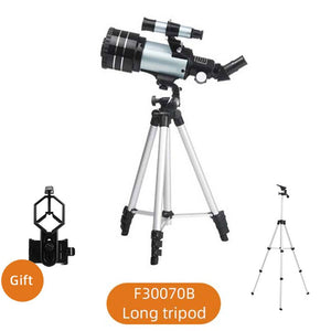 Professional Zoom Astronomical Telescope With Phone Clip Outdoor HD Night Vision 150X Refractive Deep Space Moon Watching Gifts