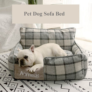 Detachable Pet Bed for Small Medium Large Dogs Breathable All Seasons Dog House Washable Cotton Puppy Sofa Kennel Pet Products