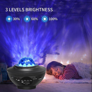 Galaxy Star Lights  Projector ( Built-in Music Speaker and Remote Controller ) By Forhumane - Forhumane.com