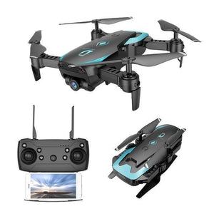 Global Drone FPV Selfie Dron Foldable Drone with Camera HD Wide Angle Live Video - Forhumane.com