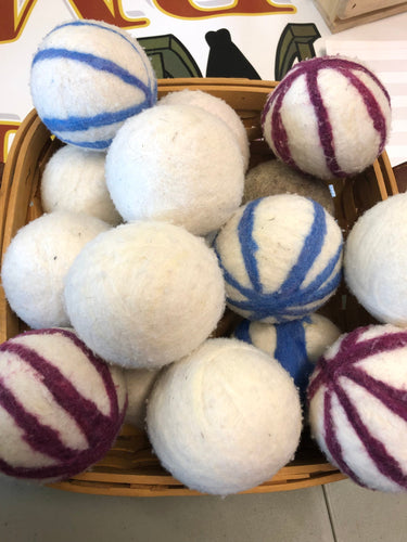 All Natural, 100% Wool, Dryer Balls Set of 3 - Rockin' Sheep Farm