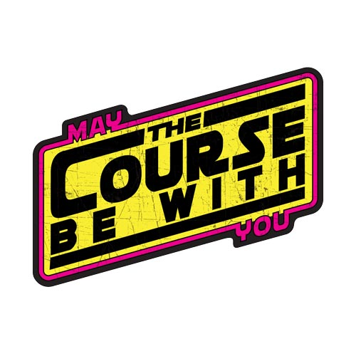 May The Course Be With You Yellow Stickers