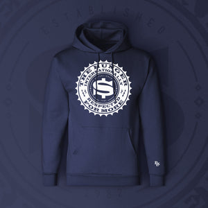 INTERNATIONALLY RESPECTED HOODIE - NAVY