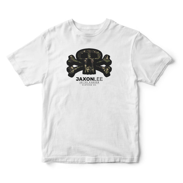 Skull & Crossbone Camo - Logo Short Sleeve T-shirt