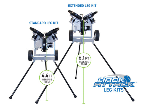 "Hack Attack Baseball Extended Legs , 67"", Set of 3"