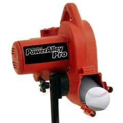 The PowerAlley Pro pitches lite-balls up to 60 MPH, and real baseballs up to 45 MPH